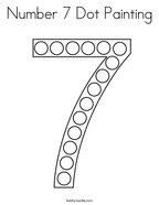 Number 7 Dot Painting Coloring Page