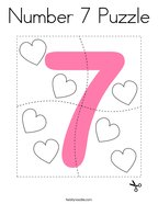Number 7 Puzzle Coloring Page