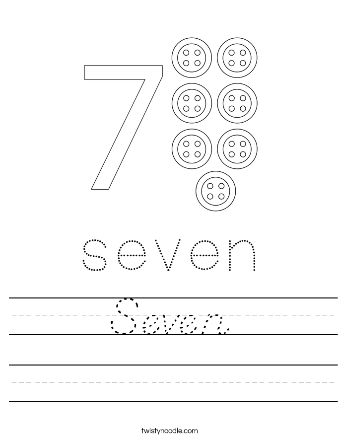 Seven Worksheet