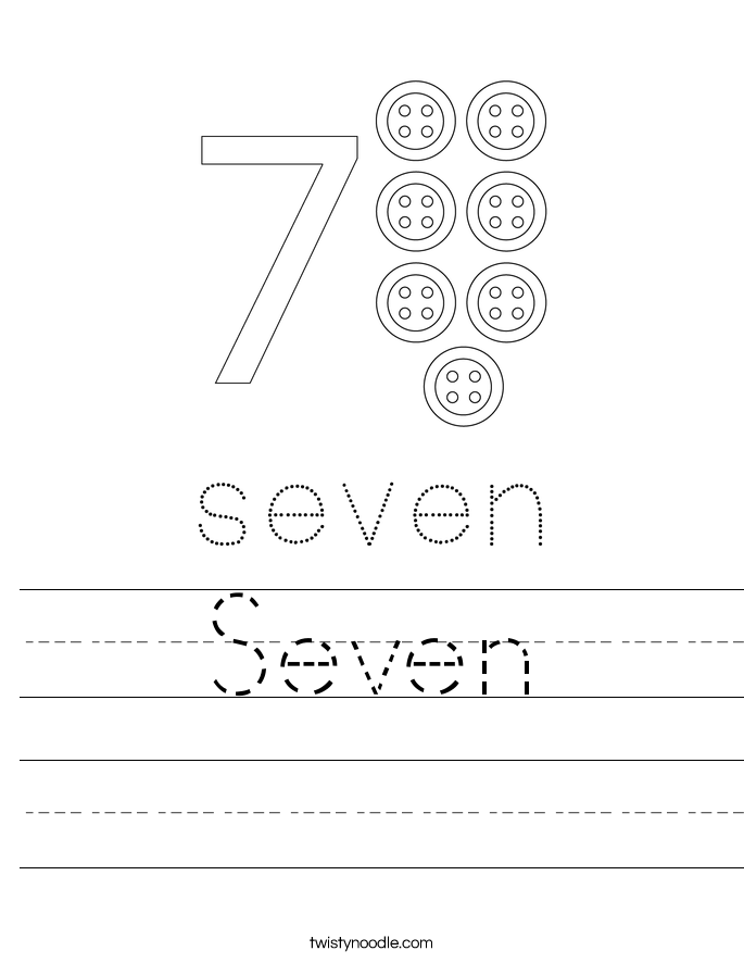 Number 7 Worksheets Twisty Noodle – Number 7 Worksheet