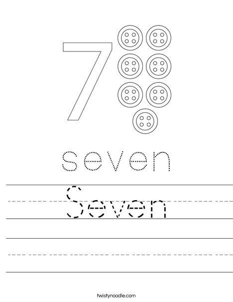 Number 7 Worksheet