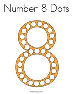 Number 8 Dots Coloring Page