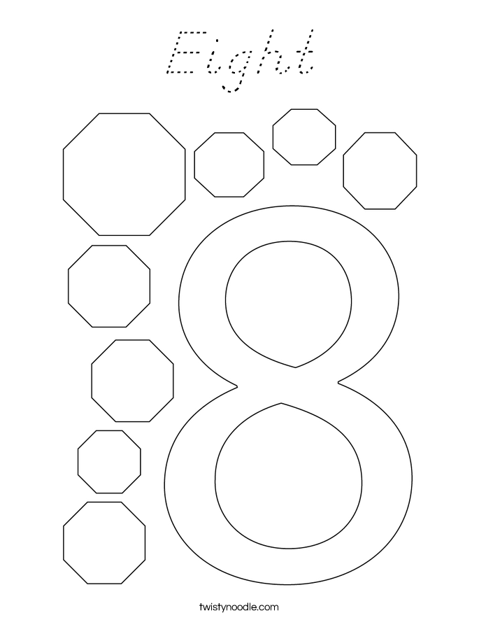 Eight Coloring Page