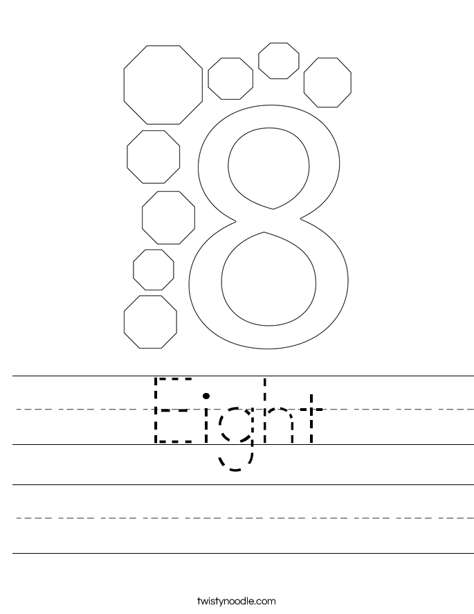 Eight Worksheet