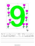 Number 9 Puzzle Worksheet