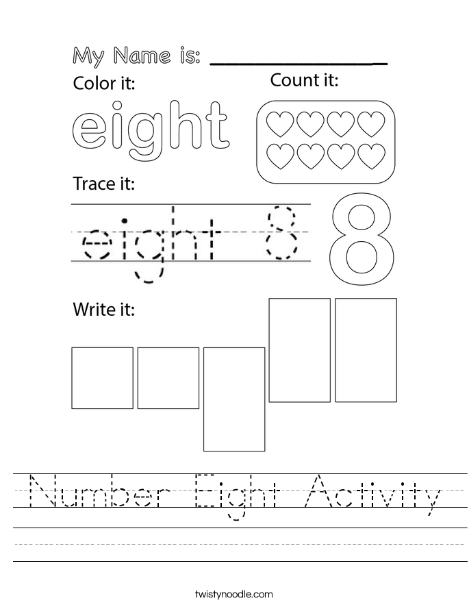 Number Eight Activity Worksheet