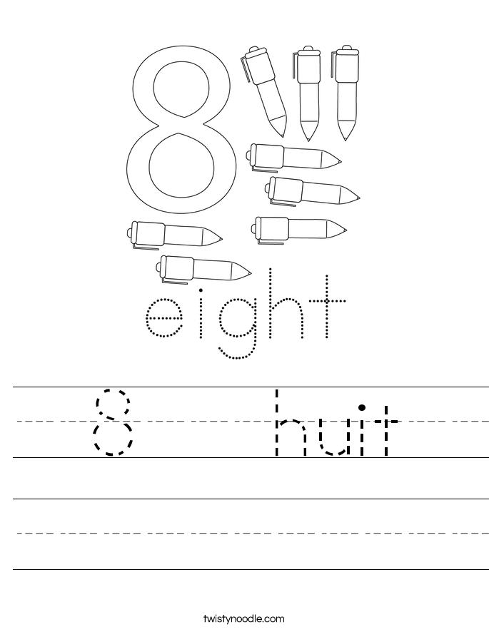 8   huit Worksheet