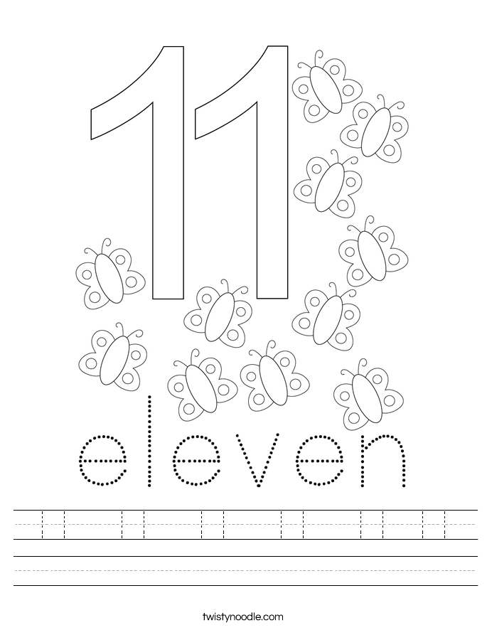 11  11  11  11  11 11 Worksheet