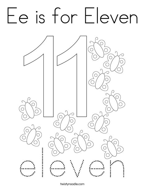 Number Eleven Coloring Page