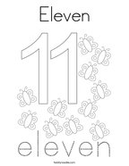 Eleven Coloring Page