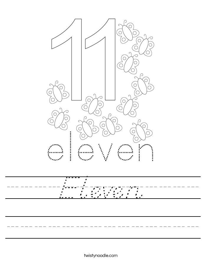 Eleven Worksheet