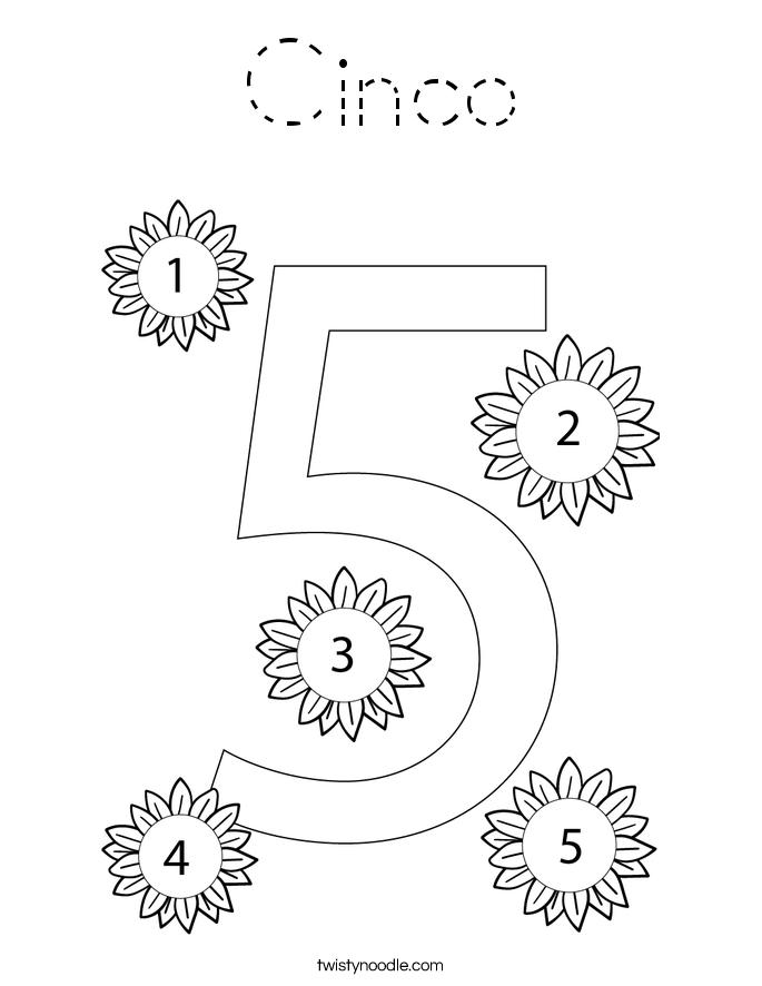 Cinco Coloring Page