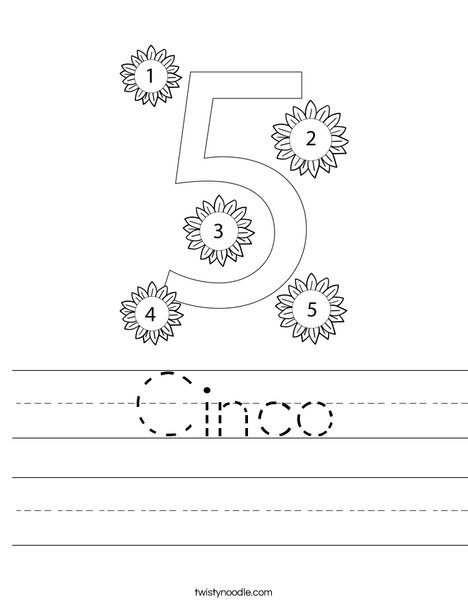 Number Five Worksheet