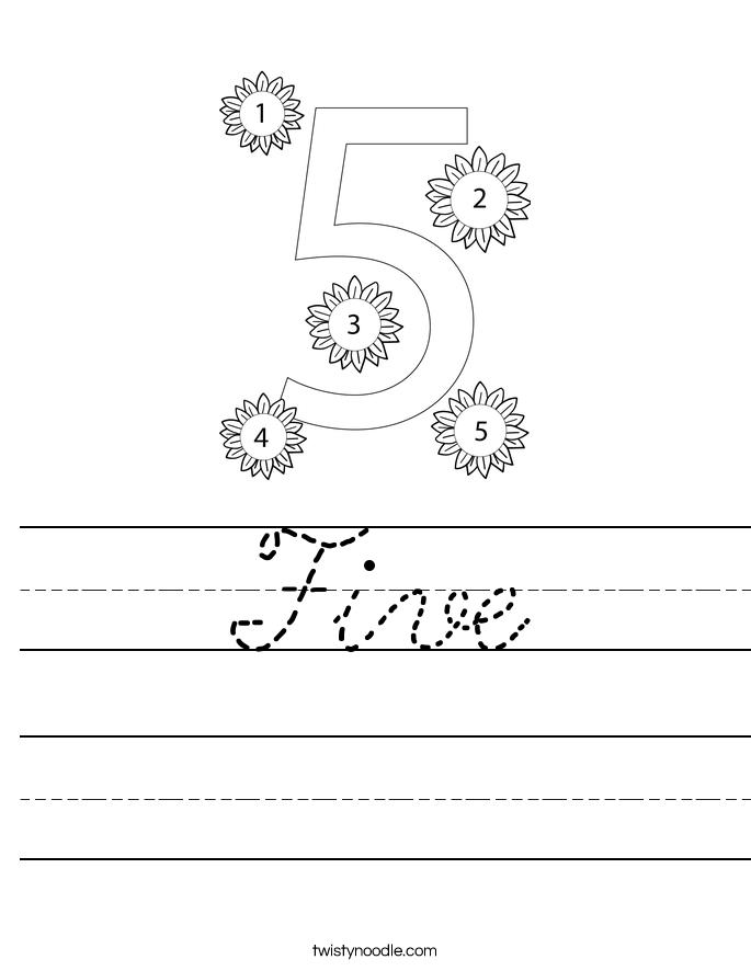 Five Worksheet