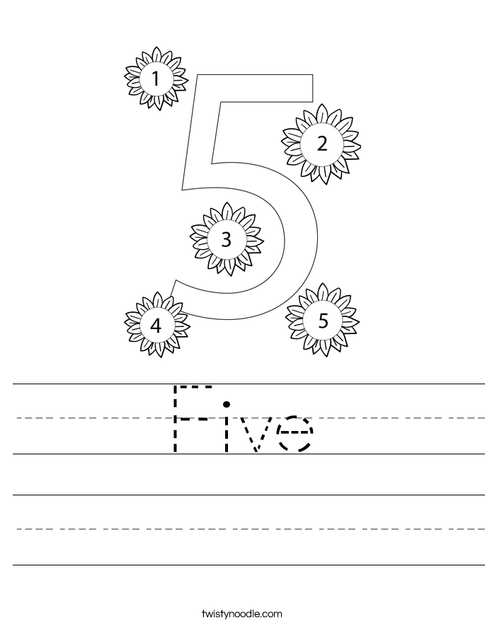 number 5 preschool worksheet Success