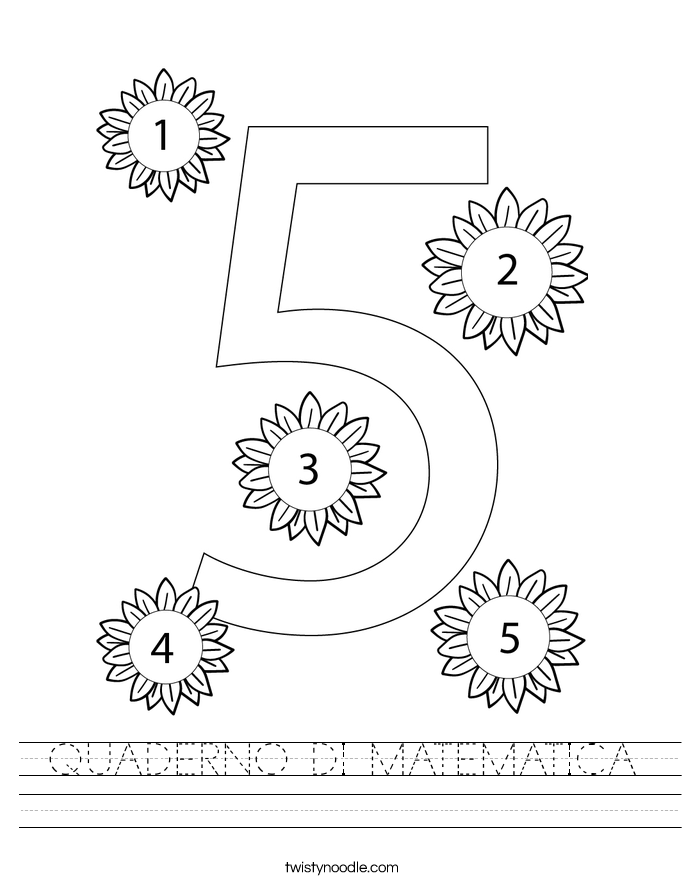 QUADERNO DI MATEMATICA Worksheet