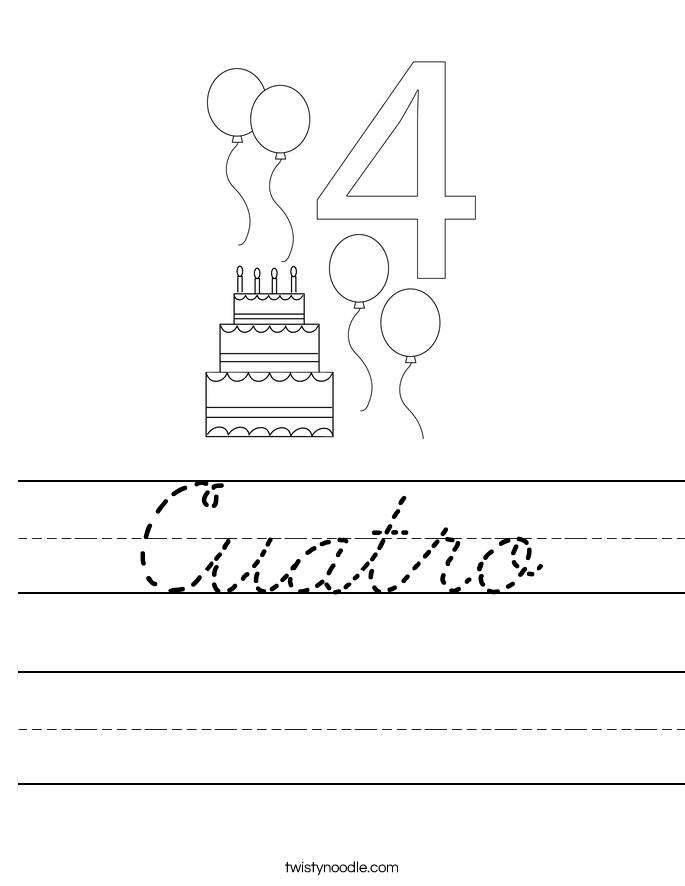 Cuatro Worksheet