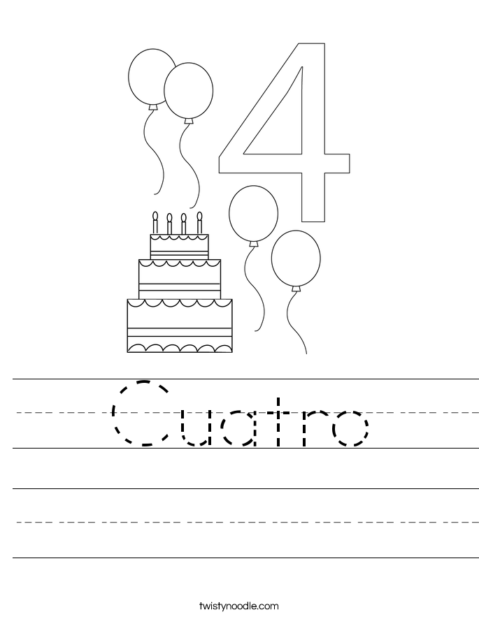 Cuatro Worksheet