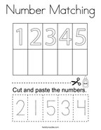 Number Matching Coloring Page