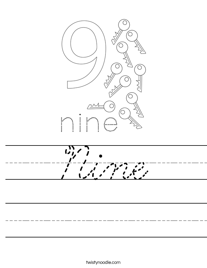 Nine Worksheet