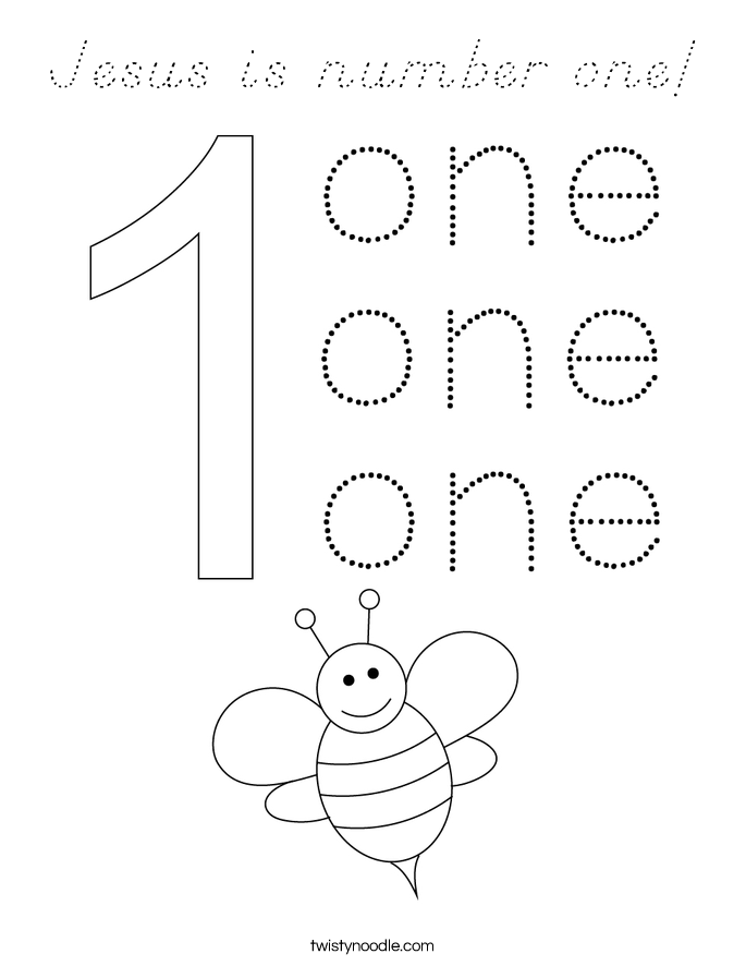 Jesus is number one! Coloring Page