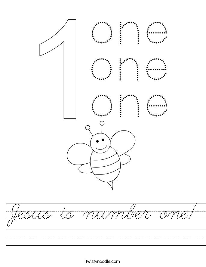 Jesus is number one! Worksheet
