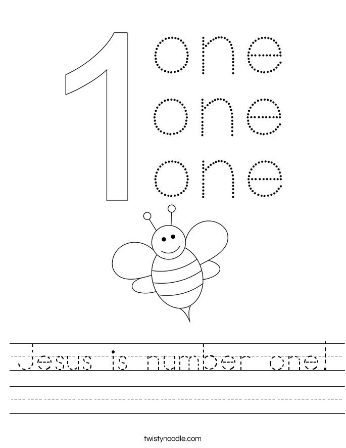 Jesus is number one Worksheet - Twisty Noodle