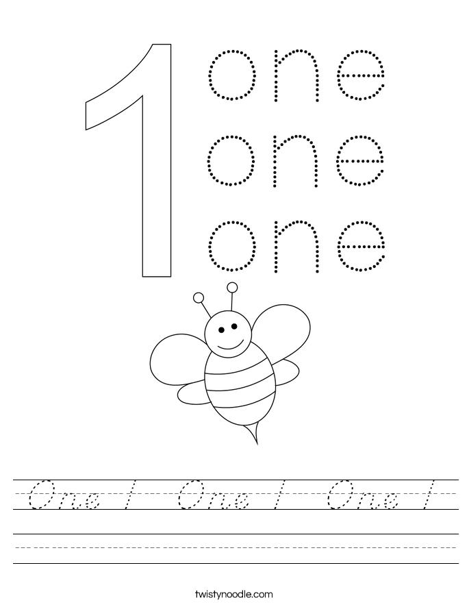 One 1  One 1  One 1 Worksheet