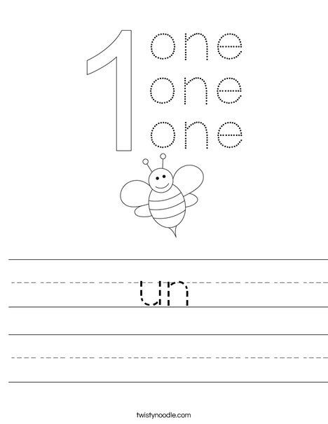 Number One Worksheet
