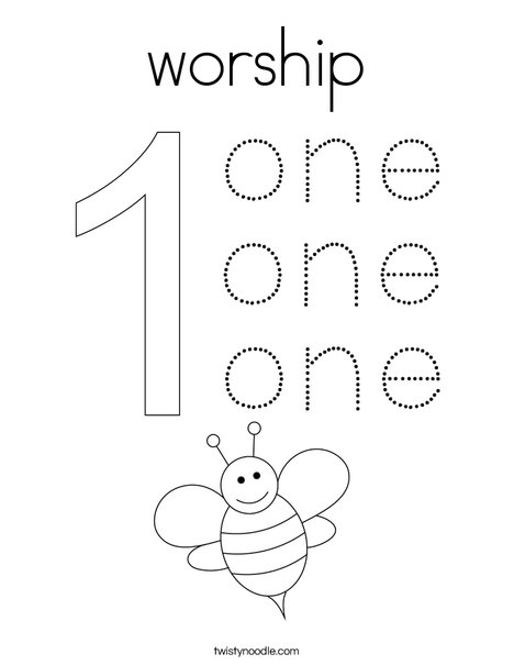 Worship Coloring Page Twisty Noodle