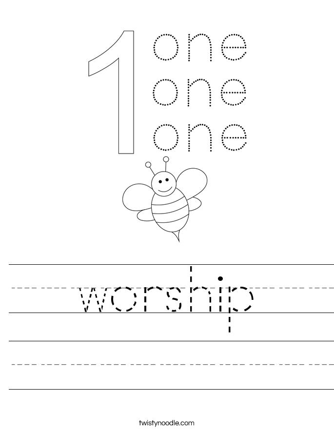 worship Worksheet