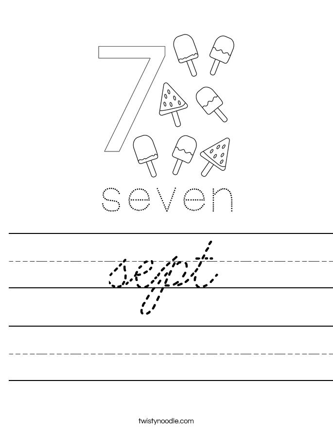 sept Worksheet