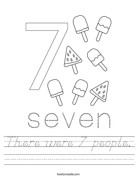 Number Seven Worksheet