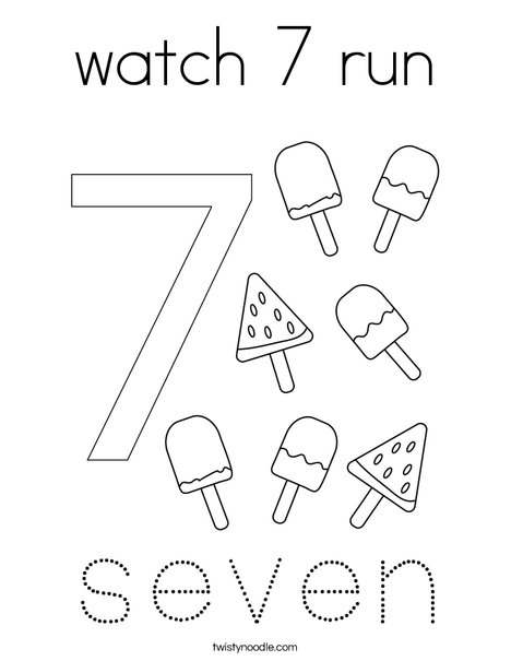 Number 7 Seven coloring page | Coloring pages