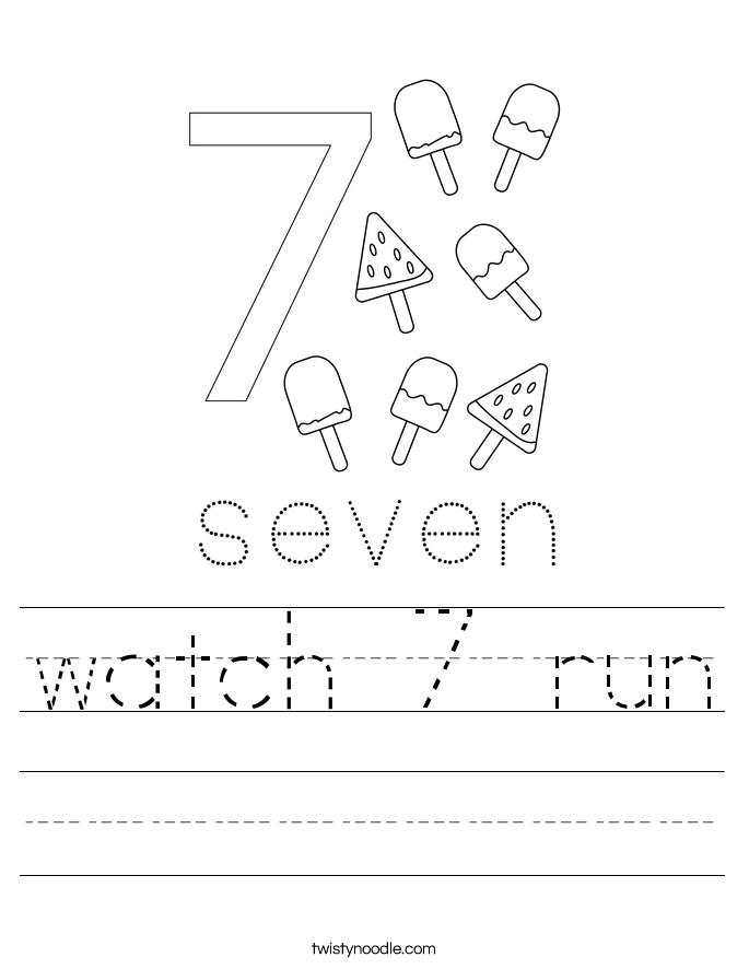watch 7 run Worksheet