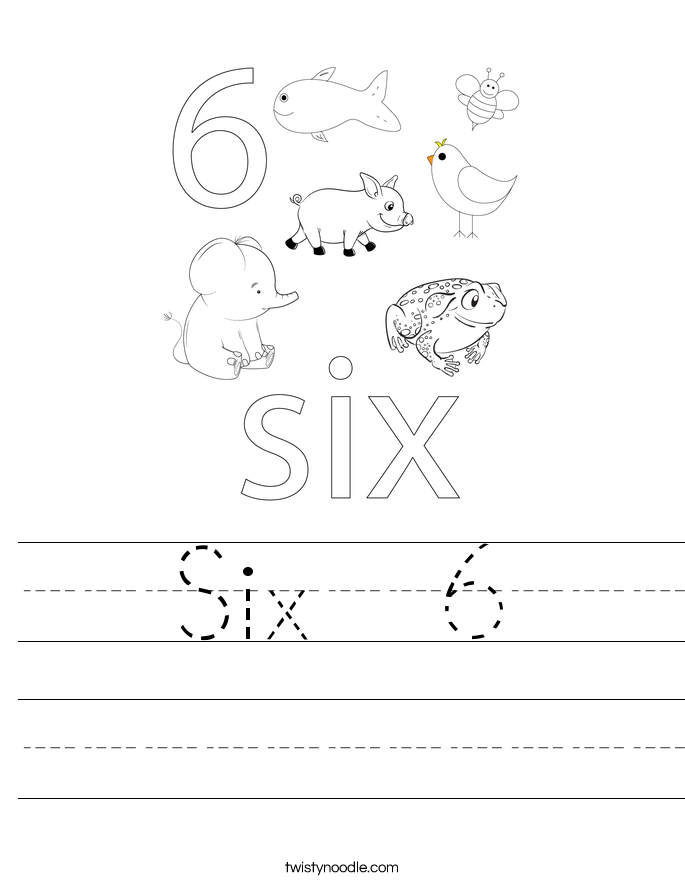 Six  6 Worksheet