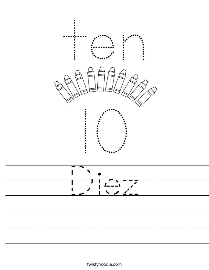 Diez Worksheet