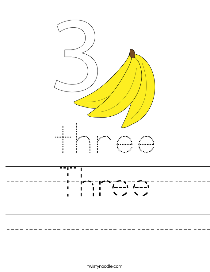 Three Worksheet
