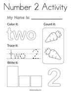 Number 2 Activity Coloring Page