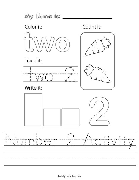 Number Two Activity Worksheet