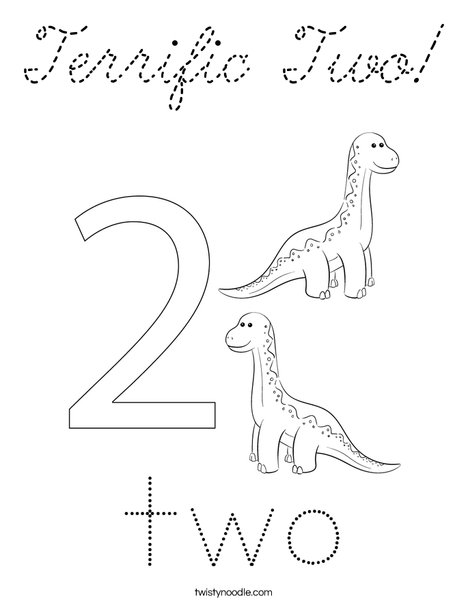 Number Two Coloring Page