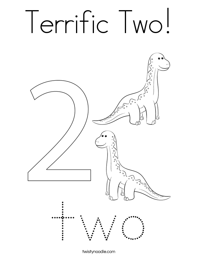 Terrific Two! Coloring Page