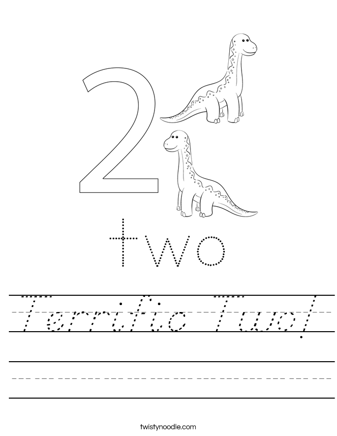 Terrific Two! Worksheet