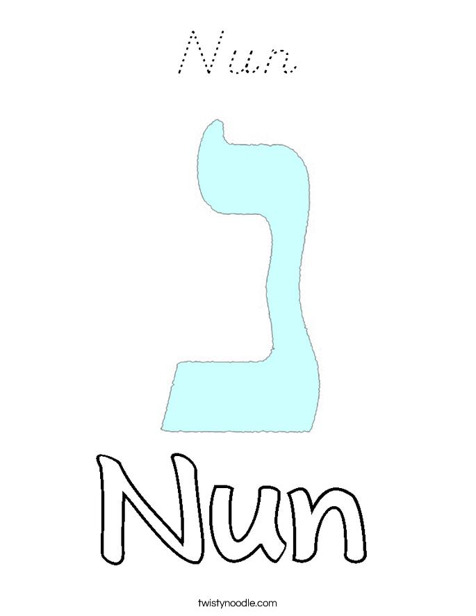 Nun Coloring Page