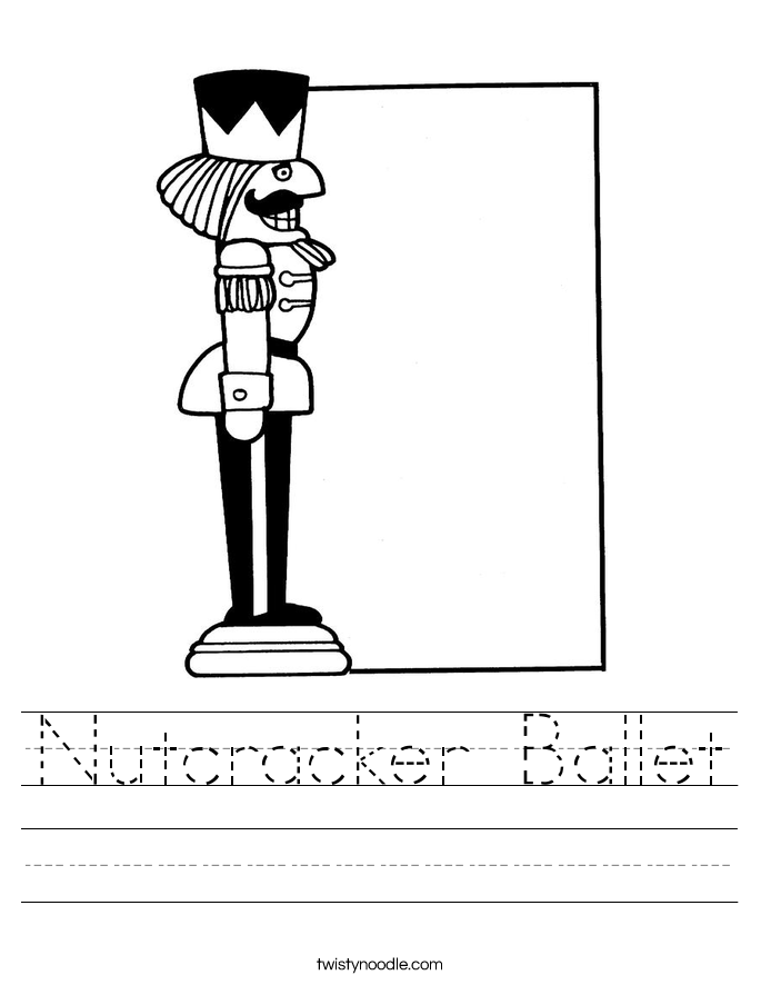 Nutcracker Ballet Worksheet