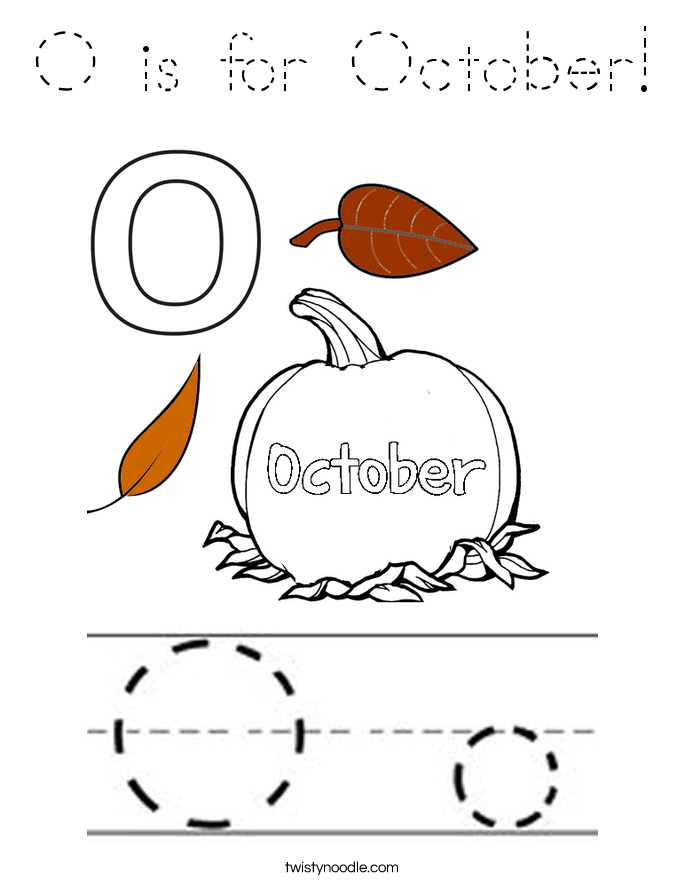 O is for October! Coloring Page