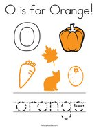 O is for Orange Coloring Page