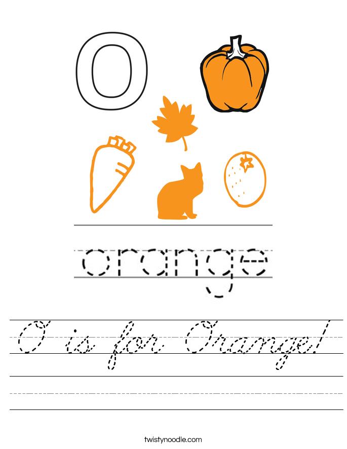 O is for Orange! Worksheet