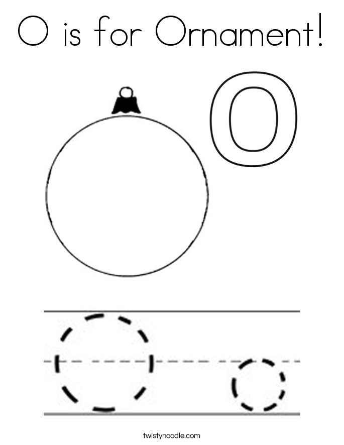 O is for Ornament! Coloring Page