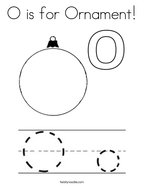 O is for Ornament Coloring Page